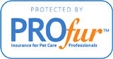 Protected by PROFur insurance for pet care professionals